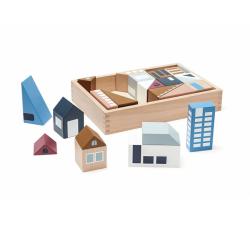 Dřevěné kostky město Aiden Kids Concept