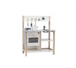 Dřevěné kuchyňka natural white Bistro Kids Concept