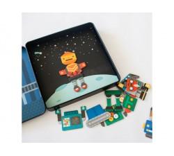 Magnetická knížka Roboti Petitcollage