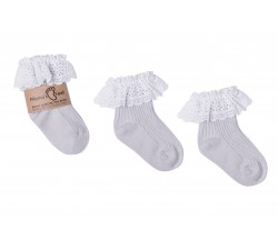 Mama's Feet Dětské ponožky Vintage Love Gray šedé Velikost: 3-5 let